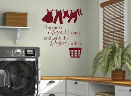 Washroom Laundry Room Wall Decals Home Balcony Wall Vinyl Stickers