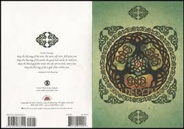 yule tree celtic holiday card pack by jen delyth celtic art
