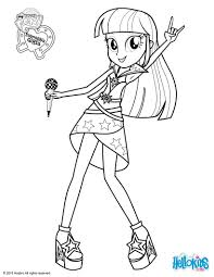 twilight sparkle sings coloring pages hellokids