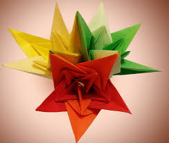diy origami flower paper bells bouquet for christmas holiday