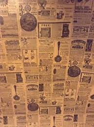 newspaper wrapping paper vintage wrapping paper newspaper print gift wrap 2 yards ebay