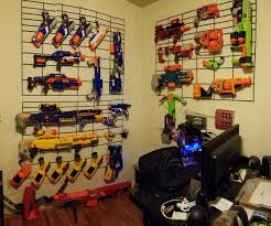 nerf bedroom nerf gun airsoft wall display 4 steps with pictures
