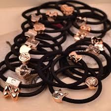 elastic hairband 10 pcs new korean fashion women hair accessories black