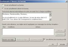 message d absence du bureau formation office