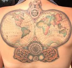 World Map Tattoo by Tattoo Maps Musings On Maps