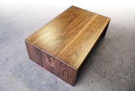 waterfall coffee table wood brandner design walnut waterfall coffee table