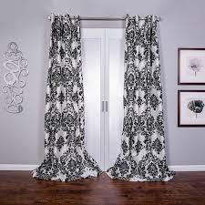 com venetian damask flock faux silk curtain panel 96 inch home kitchen