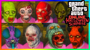 Funny Face Halloween Masks Gta 5 Online Halloween Surprise Dlc All New Masks Gta 5 Online