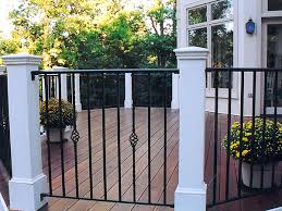 octogonal deck with wrought iron railing traditional deck dc
