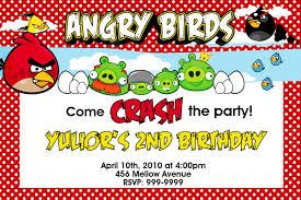 birthday invitations angry bird invitations templates ideas
