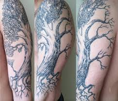 hide tattoo app my half dead half alive tree by jeff cornell at hidden hand tattoo
