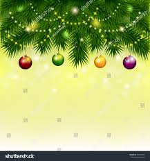 Branch Christmas Tree With Lights - background christmas tree balls branches spruce stock vector