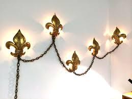 Fleur De Lis Wall Sconce Italian Fleur De Lis Gold Gilt Wall Sconce L At 1stdibs