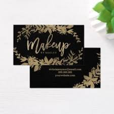 makeup artist supplies makeup artist chic gold typography navy blue business card