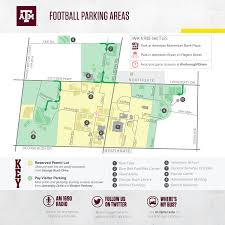 University Of Tennessee Parking Map by Texas A U0026m Football Gameday 12thman Com