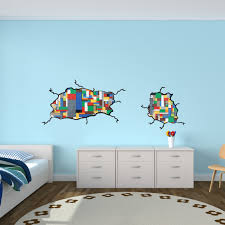 Lego Wallpaper For Kids Room by Kids Wall Stickers For Bedrooms Inspired By Lego Wall Decals For