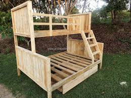 Easy And Strong 2x4 U0026 2x6 Bunk Bed 6 Steps With Pictures by Best 25 Pallet Bunk Beds Ideas On Pinterest Bunk Bed Mattress