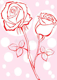 hand sketched rose stock vector image of retro gift 9726202