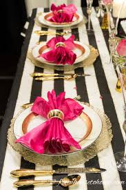 Ideas For Black Pink And Kate Spade Inspired Table Setting Kate Spade Party Wedding And Gold
