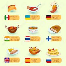 cuisine internationale cuisine du monde des plats de cuisine internationale icônes