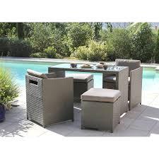 chaise tress e salon de jardin exterieur 11 avec en r sine tress e 6 chaises table