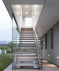 Modern Glass Stairs Design Outside Metal Staircase Home Design By Larizza