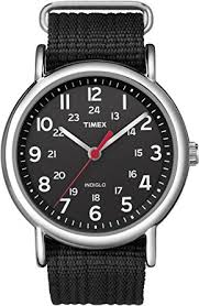 amazon com timex unisex t2n647 weekender black nylon slip thru