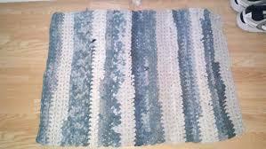 Crochet Tshirt Rug Pattern 13 Free Crochet Rug Patterns From T Shirt Yarn Hooked Goodies