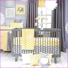 Grey And Yellow Crib Bedding Grey And Yellow Crib Bedding Sets Home Design Ideas
