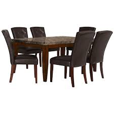 city lghts rect marble table 4 uph chrs city lights rectangular marble table 4 upholstered chairs
