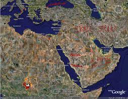 Arabian Peninsula Map Early Islam
