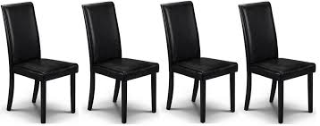 Black Dining Chairs Traditional Abdabs Furniture Hudson Black Dining Chairs Set Of
