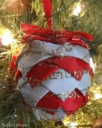 diy ornaments fabric pinecone puddy s house