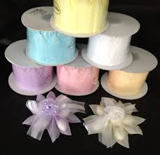 pull ribbon white pull bow ribbon for almonds candy 10