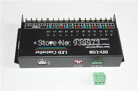 led rgb controller 12 channels dynamic scanning usb diy led