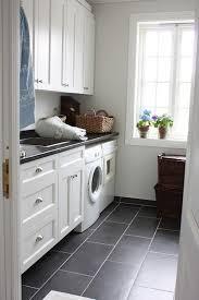 white laundry room home design