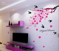 Wall Stickers Home Decor Home Decor Wall Art Stickers Aliexpress Buy Sakura Flower Birds