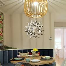 2017 new mirror wall stickers home decor sun flower bedroom sofa