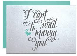 Bride To Groom Wedding Card I Cant Wait To Marry You Wedding Card For Bride Gift Note Or