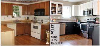 painted kitchen cabinets white upper black lower kitchen cabinet