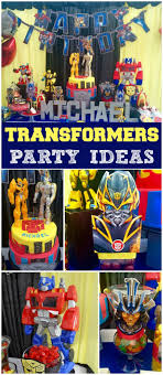 transformers party decorations transformers birthday michael s 6th transformer party