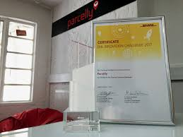 dhl siege social parcelly wins the dhl economy challenge award 2017