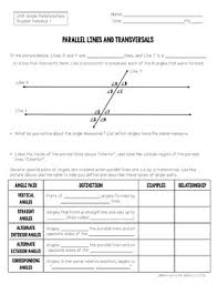 8th grade math angle relationships unit 8 g 5 by maneuvering the