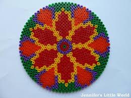 large diwali hama bead rangoli designs hama beads perler beads