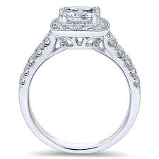 white gold halo engagement rings 14k white gold pave shank and princess cut halo 14k white