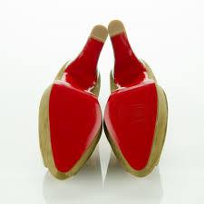 christian louboutin suede bambou mosaic heel pumps 39 green 122228
