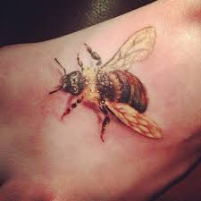 realistic bumble bee tattoo amazing bumblebee tattoos on left