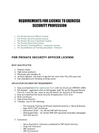 Resume Sample In The Philippines by Requirements For License To Exercise Security Profession