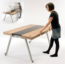 Folding Table With Wheels Expandable Dining Table Doubles As Compact Kitchen Island Folding