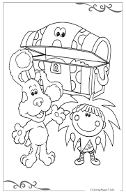 blue u0027s clues download and print free coloring pages for kids